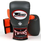 View the TBGL-6F Twins Air Flow Bag Gloves Grey-Orange online at Fight Outlet