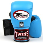 View the TBGL-6F Twins Air Flow Bag Gloves Sky Blue-Grey online at Fight Outlet