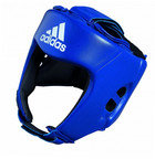 View the Adidas AIBA Style Training Head Guard Blue online at Fight Outlet