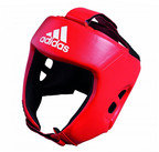 View the Adidas AIBA Style Training Head Guard Red online at Fight Outlet
