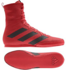 View the Adidas Box Hog 3 Red/Black Boxing Boots online at Fight Outlet