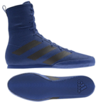 View the Adidas Box Hog 3 Royal Blue/Black Boxing Boots online at Fight Outlet