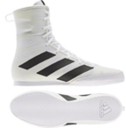 View the Adidas Box Hog 3 White/Black Boxing Boots online at Fight Outlet