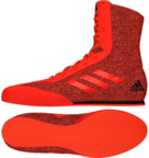 View the Adidas Box Hog Plus Red/Black Boxing Boots online at Fight Outlet
