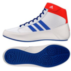 View the Adidas Havoc Ring Boot White/Blue/Red online at Fight Outlet