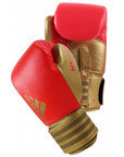 Adidas Hybrid 200 Boxing Gloves - Gold / Shock Red, Limited Edition 10oz