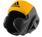 View the Adidas Hybrid Sparring Headguard Black Yellow online at Fight Outlet