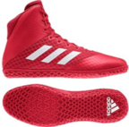 View the Adidas Mat Wizard 4 Red/White online at Fight Outlet