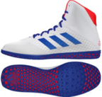 View the Adidas Mat Wizard 4 Ring Boot White/Blue/Red online at Fight Outlet