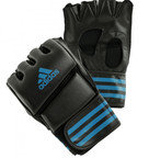 View the Adidas MMA Grappling Training Gloves - Black/Blue online at Fight Outlet