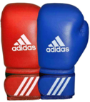 AIBA Licensed Boxing Gloves, Red