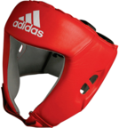View the Adidas Boxing Head Guard 'AIBA' Licensed CE Red online at Fight Outlet