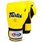 BGV9 Fairtex Yellow Black Mexican Style Boxing Gloves
