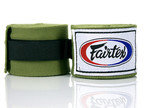 View the Fairtex HW2 Olive Green Handwraps 4.5m online at Fight Outlet