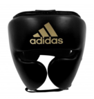 View the Adidas AdiStar Pro Black/Gold Head Guard online at Fight Outlet