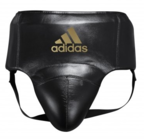 View the Adidas AdiStar Pro Black/Gold Groin Guard online at Fight Outlet
