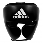 View the Adidas AdiStar Pro Black/White Head Guard online at Fight Outlet