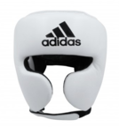 View the Adidas AdiStar Pro White/Black Head Guard online at Fight Outlet