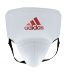 View the Adidas AdiStar Pro White/Red Groin Guard online at Fight Outlet