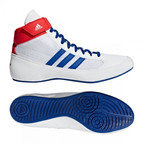 View the Adidas Havoc Kids Lace Boxing Boot, White/Blue/Red online at Fight Outlet