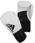 Adidas Hybrid 100 Boxing Gloves, White/Black