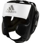 View the Adidas Hybrid Sparring Head Guard Black/White online at Fight Outlet