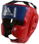 View the Adidas Hybrid Sparring Head Guard Red/Blue online at Fight Outlet