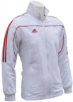 View the Adidas Junior Tracksuit Jacket White/Red online at Fight Outlet