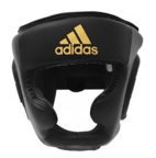 View the Adidas Speed Full Face Black Head Guard online at Fight Outlet