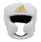 View the Adidas Speed Full Face White Head Guard online at Fight Outlet