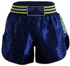 View the Adidas Thai Boxing Shorts - Dark Blue/Solar Yellow online at Fight Outlet