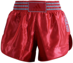 View the Adidas Thai Boxing Shorts - Solar Red/Silver online at Fight Outlet