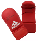 View the Adidas WKF Karate Mitts Without Thumb, Red online at Fight Outlet