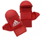 View the Adidas WKF Karate Mitts With Thumb, Red online at Fight Outlet