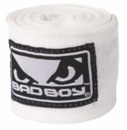 View the Bad Boy HANDWRAPS White/Black 4.5m online at Fight Outlet