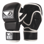 View the Bad Boy PADDED MMA SPARRING GLOVE, Black/White online at Fight Outlet