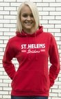 View the ST.HELENS Striders Ladies HOODY with Large Chest Logo and Large Back Print.  online at Fight Outlet