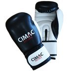 View the Cimac Artificial Leather Boxing Gloves Black/White online at Fight Outlet