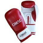 Cimac Artificial Leather Boxing Gloves Red/White