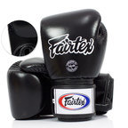 View the BGV1-B Fairtex Black Breathable Boxing Gloves online at Fight Outlet