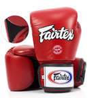 View the BGV1-B Fairtex Red Breathable Boxing Gloves online at Fight Outlet