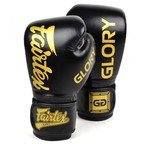 View the BGVG1 Fairtex X Glory Black Velcro Boxing Gloves online at Fight Outlet