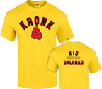 View the KRONK Boxing Kid Galahad Training Camp T Shirt Yellow online at Fight Outlet