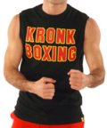 View the KRONK Boxing Sleeveless T Shirt Black/Red/Yellow online at Fight Outlet