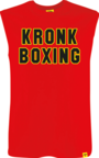 View the KRONK Boxing Sleeveless T Shirt Red/Black/Yellow online at Fight Outlet