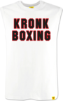 View the KRONK Boxing Sleeveless T Shirt White/Black/Red online at Fight Outlet