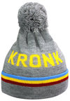 View the KRONK Detroit 3 stripe Bobble Hat Grey online at Fight Outlet