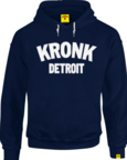View the KRONK Detroit Applique Hoodie Regular Fit Navy with White logo online at Fight Outlet