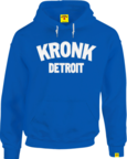 View the KRONK Detroit Applique Hoodie Regular Fit, Royal with White logo online at Fight Outlet