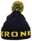 View the KRONK Detroit Bobble Hat Navy/Yellow online at Fight Outlet